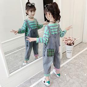 女童背带裤套装2021新款春装儿童