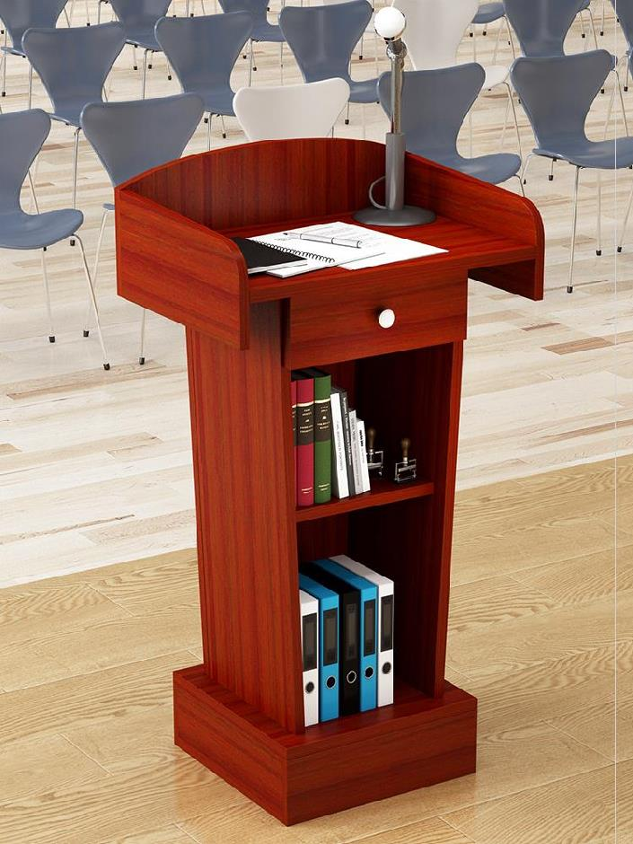 Simple Club table school podium with drawers dining room in stock small position speaking platform inquiry platform? Lecture platform