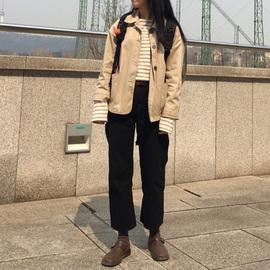 毛呢裤子女秋冬西装加绒chic直筒裤宽松九分裤小个子米白色长裤图片