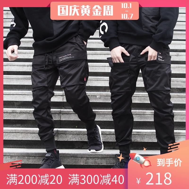 (用20元券)双口袋机能风工装裤束脚裤男小脚休闲裤李现同款国潮潮牌catsstac