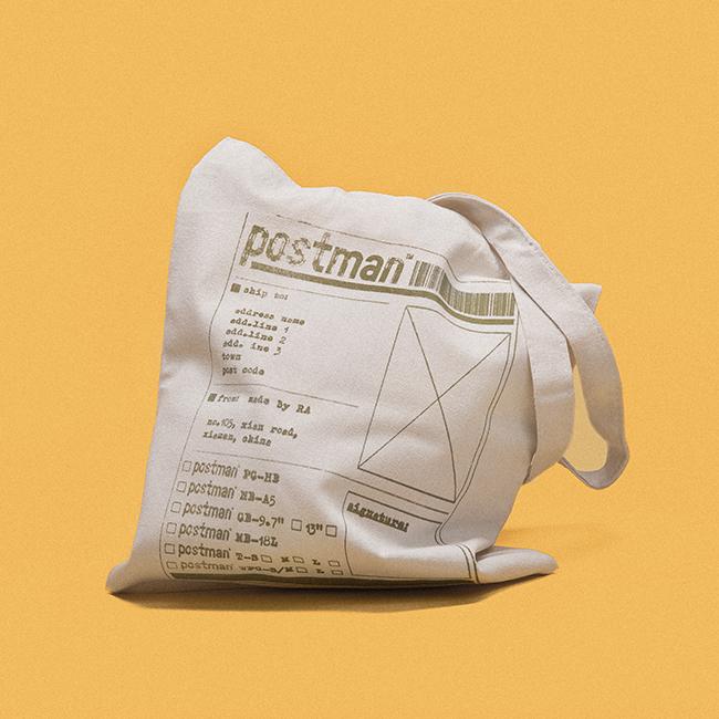 人各有职 | 邮差 - 原创设计米色印花全棉帆布购物包帆布袋