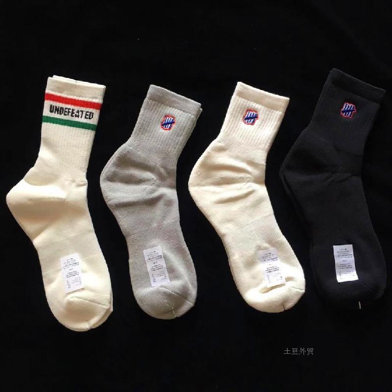 包邮 现货UNDEFEATED 刺绣logo中筒男女精梳棉毛巾底街头潮流袜子