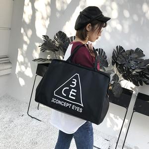 韩版手提旅行包女行李包大容量短途旅行袋健身包男旅游包行李袋潮