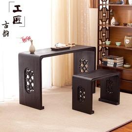 琴桌实木仿古共鸣中式明清古典伏羲式桐木禅意国学书法桌古琴桌凳图片