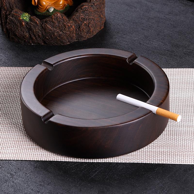 烟灰缸创意个性潮流家用客厅特大号黑檀实木复古中式木质北欧定制48.00元包邮