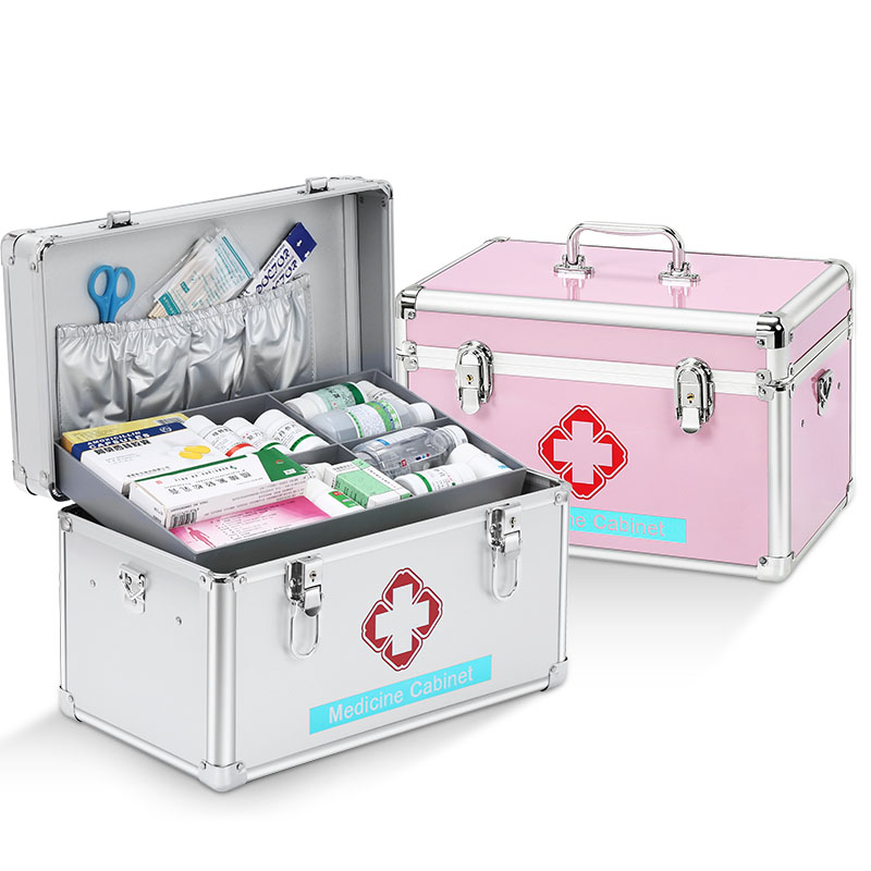 Medical kit household medical kit large student dormitory first aid small storage box supplies medical kit family multi-layer