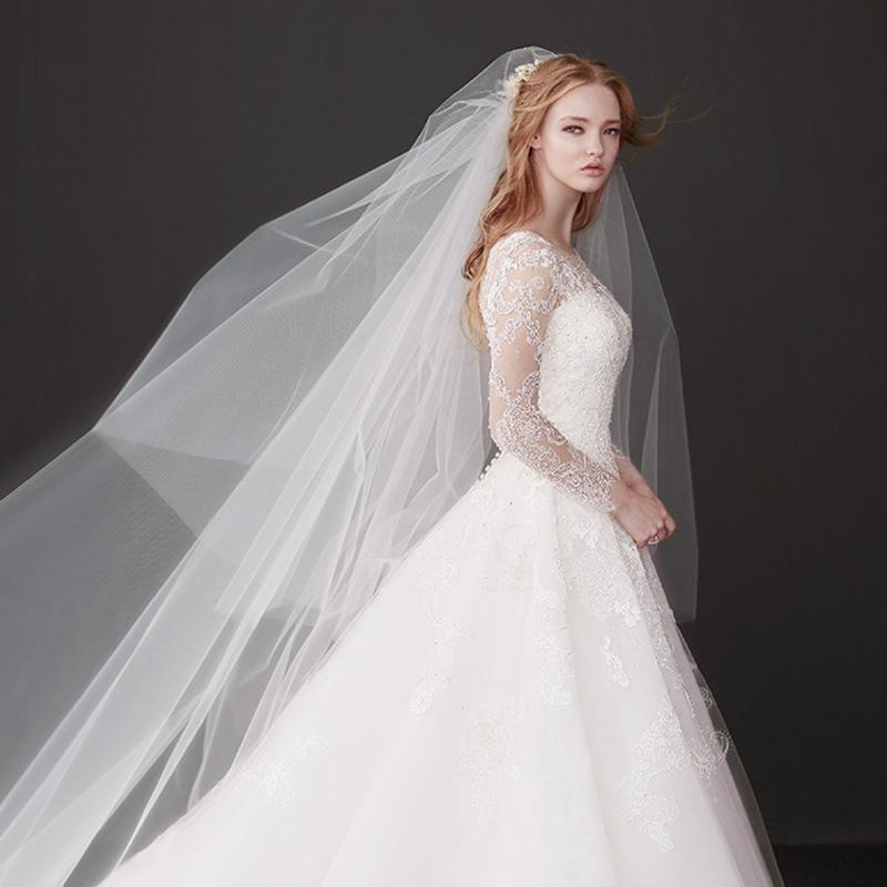 韩式素纱新娘简约蓬蓬加宽长款头纱限5000张券