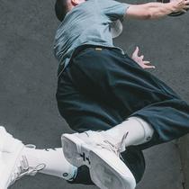 UZIS运动长裤男宽松收口束脚裤加绒秋冬篮球裤秋季卫裤潮训练裤子