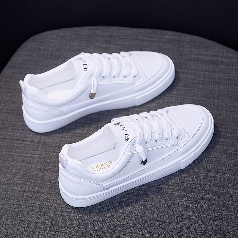 Go to work low top sports type yuansufeng summer sports shoes womens shoes retro small leather single leather shoes students