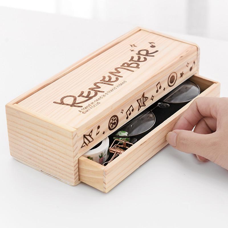 黑板DIY女生长条长方形手提儿童文具盒男小学生简约耐用双层抽屉