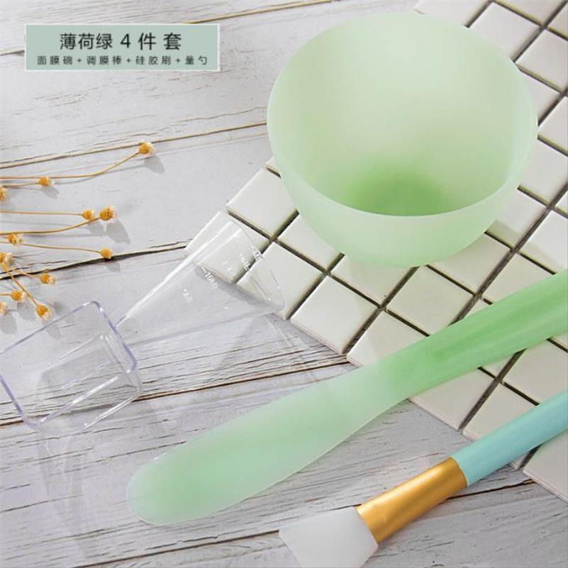 硅胶面膜碗 水疗压缩面膜大号软美容套装面膜刷和搅拌棒美容专用18.10元包邮