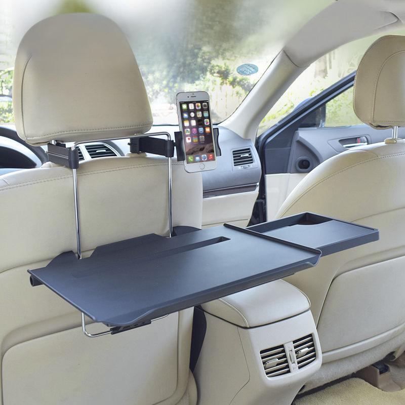 车载小桌板汽车用饭桌折叠电脑写字桌笔记本支架后座车内后排餐桌
