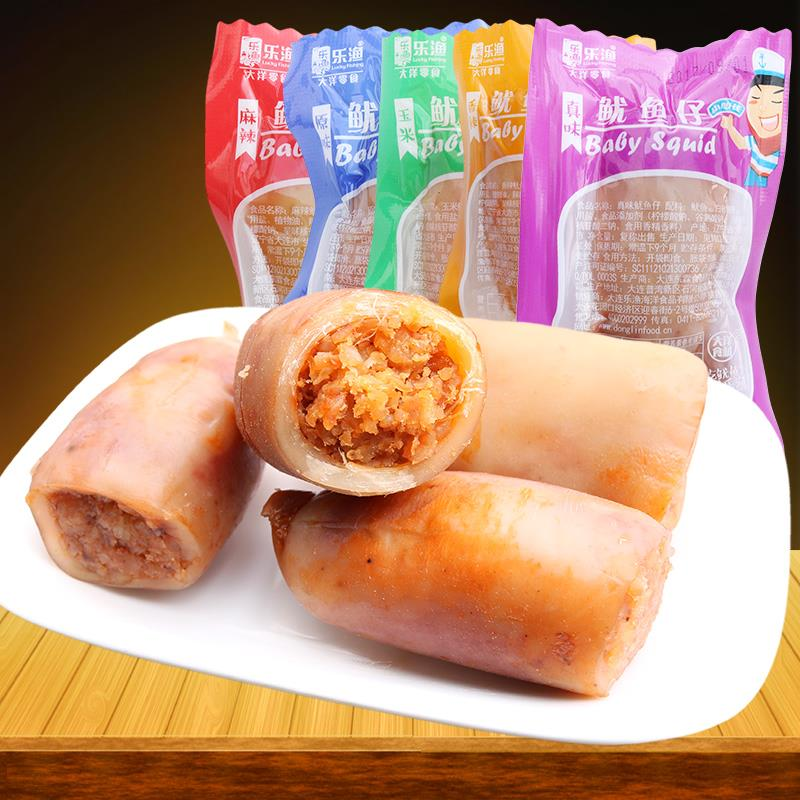 Leyu squid with seed 500g Dalian specialty instant seafood spicy squid seed snacks