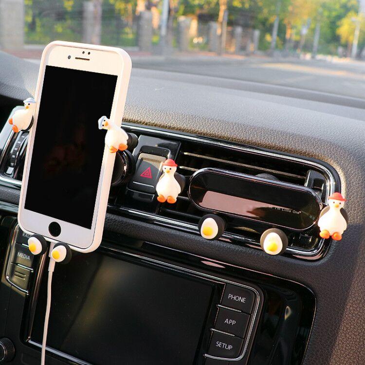 手机车载支架车内专用可爱创意卡扣式出风口导航固定架车上支撑架