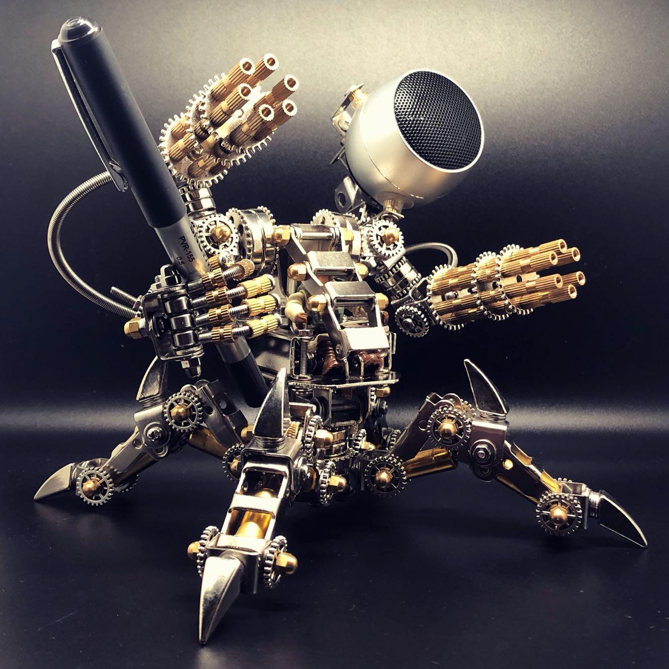匠拼模型磁猎者磁力机甲全金属拼装蓝牙音响低音炮机械朋克创意