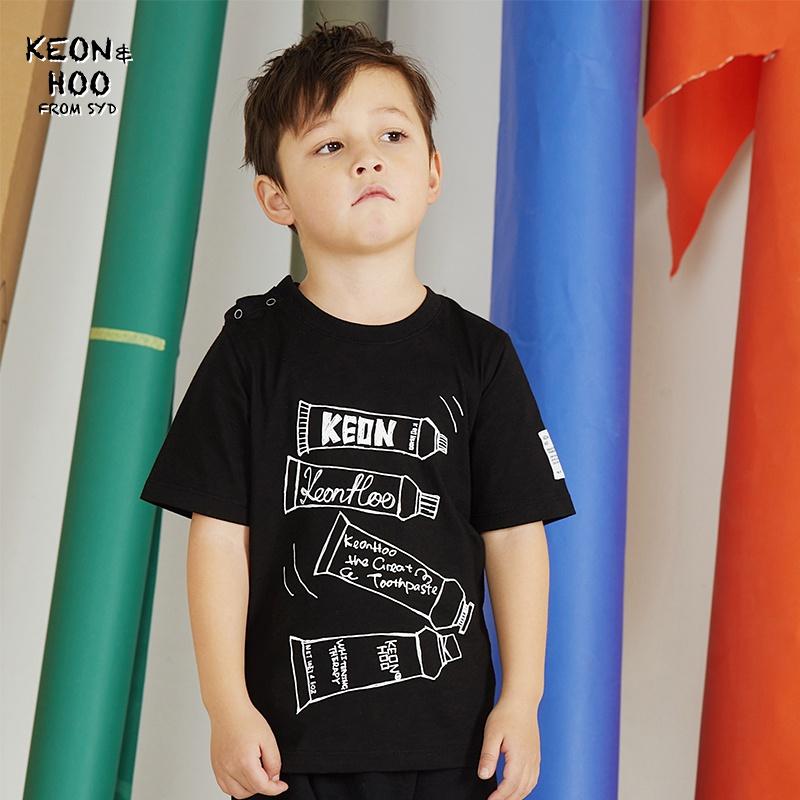 [ K.H TOOTHPASTE ]BABY TEE 夏季新款纯棉印花短袖T恤