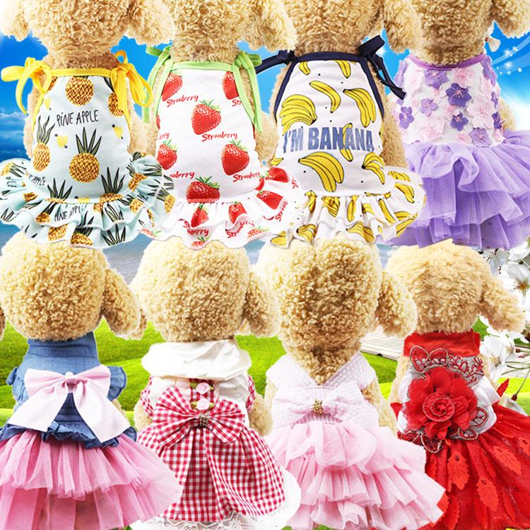 春夏新款狗狗裙子猫咪裙子舒适透气宠物衣服裙子用品泰迪公主裙图片