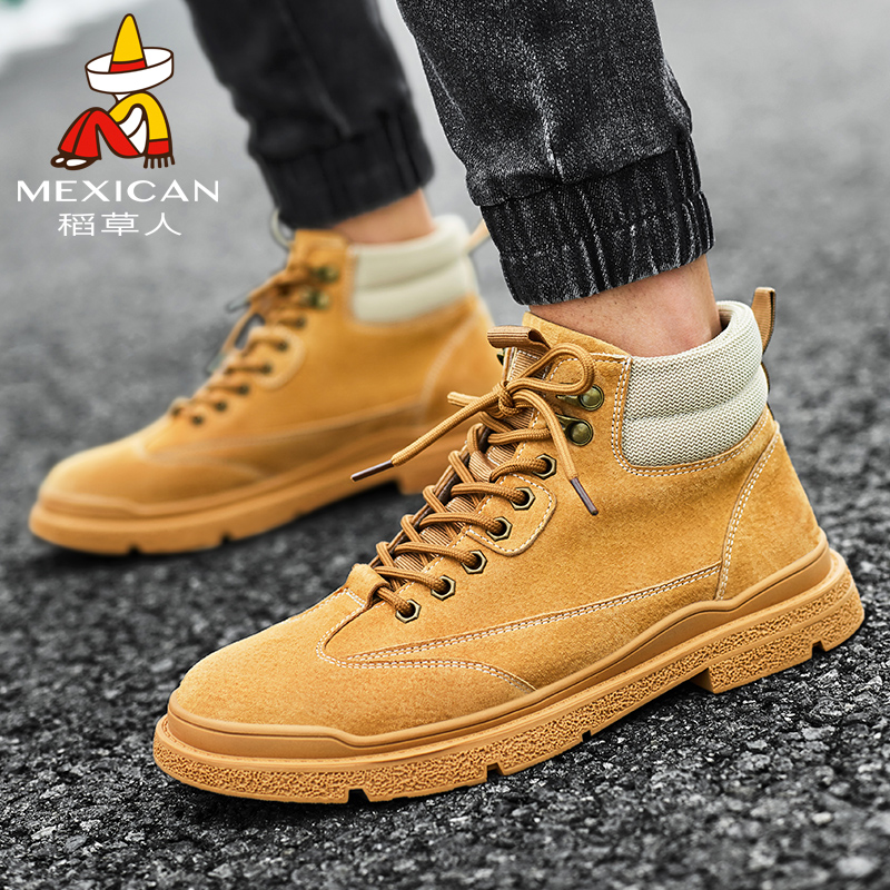Scarecrow Martin boots mens autumn and winter 2020 trend versatile mens boots short boots desert boots British leisure fashion boots