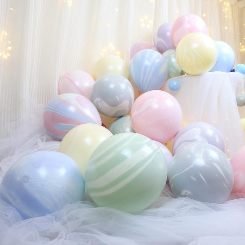 网红马卡龙玛瑙云纹加厚结婚房气球23.00元包邮