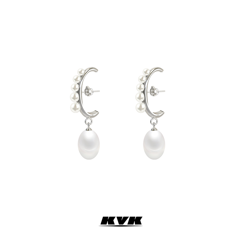 KVK Pearl Earrings 2020 new fashion earrings anti allergy Earrings French jewelry original Earrings