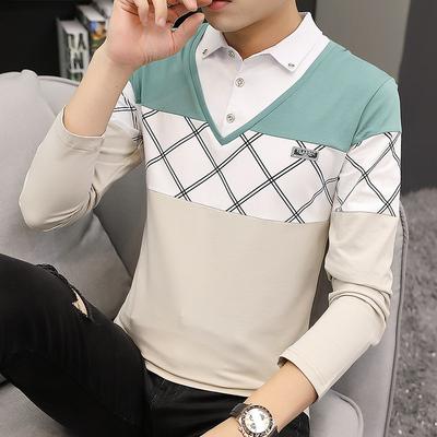 秋冬季假两件衬衫男长袖潮流韩版男士加绒保暖衬衣帅气冬装上衣服