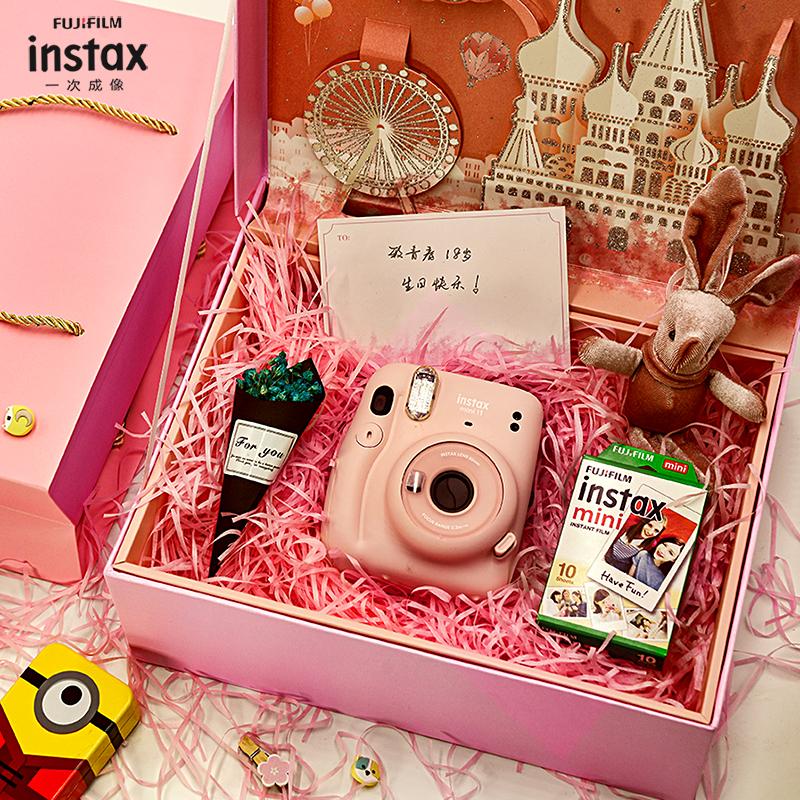 Fujifilm/富士instax mini11自拍美颜拍立得相机mini9 mini7c升级