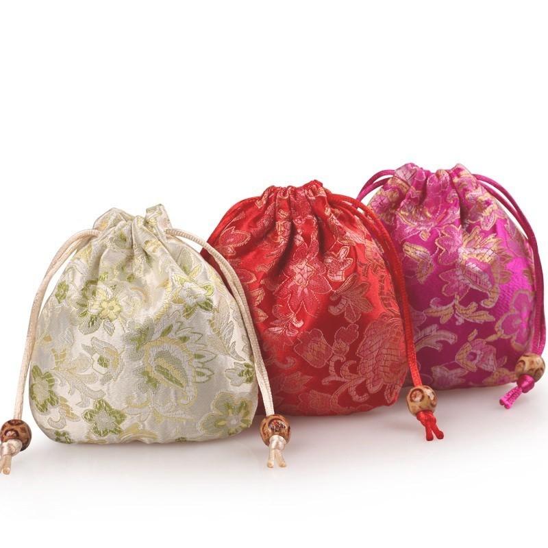 束抽包小>袋红布袋饰品红色包装袋珠宝首饰口袋绳锦囊福袋子绒,可领取1元天猫优惠券