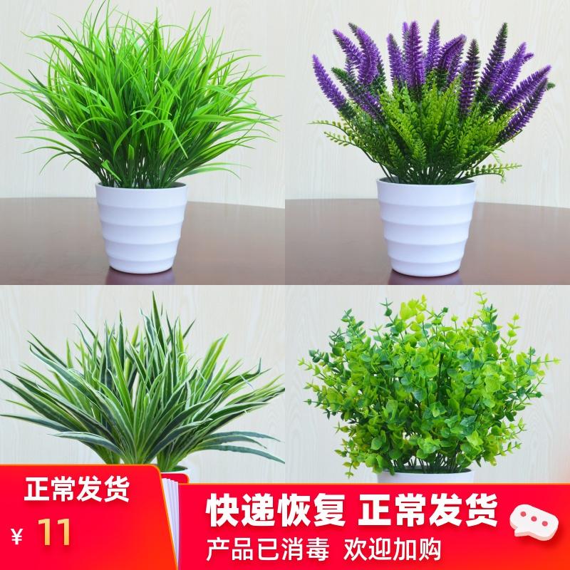 仿真植物花假绿植假花室内外装饰塑料盆栽绿萝小盆景仿真花草摆件