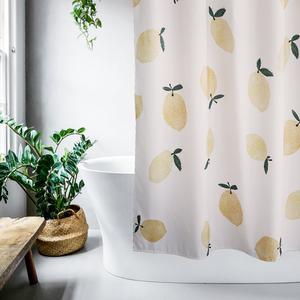 洗澡淋浴浴室浴帘隔断帘浴帘套装免打孔防水防霉加厚卫生间日本