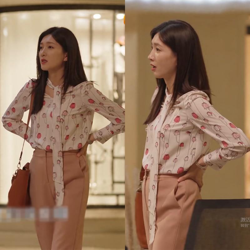 三十而已江疏影王漫妮同款衣服衬雪纺衫衬衣女甜美风上衣2020新款