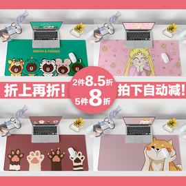 快捷键鼠标垫超大号女生键盘办公室电脑书桌垫写字台定制可爱家用图片