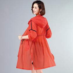 素木原创大码女装旗艦夏装薄款簿博溥傅防晒衣30岁左右穿的风衣款