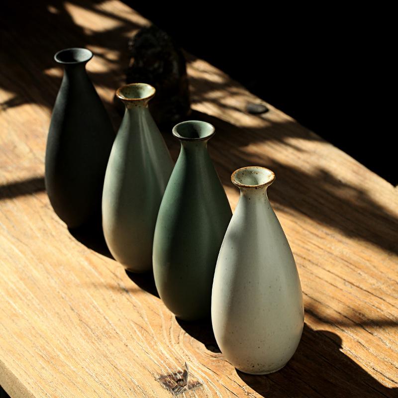 黄酒酒具 陶瓷酒坛子 手工禅意纯色素雅酒瓶 可用于烫酒 插花