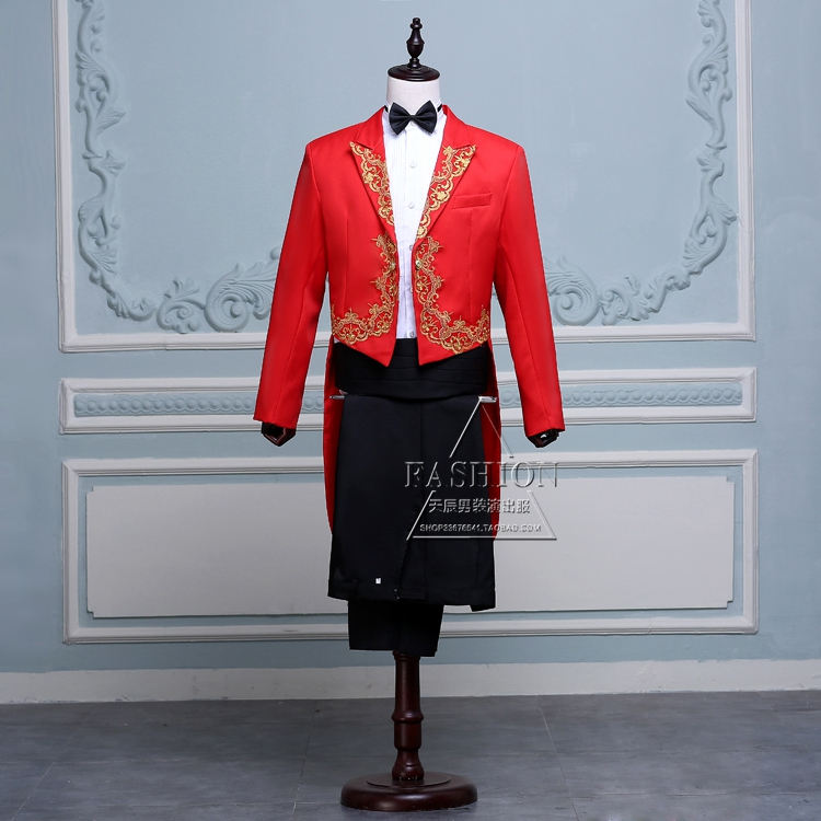 High grade new style mens tuxedo inlaid suit