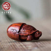 Indian leaf Rosewood hand piece playing play mahogany toy turtle egg hand carving men and women pendant