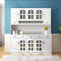 餐廳餐邊柜組合酒柜現代簡約廚房收納客廳儲物柜多功能碗柜茶水柜