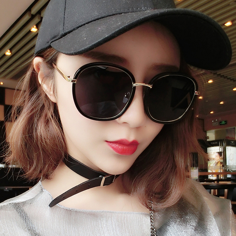 Polarized sunglasses net red retro round 2020 new outdoor glasses mens and womens trend Korean large frame sunglasses