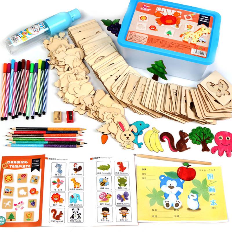 美术儿童幼儿学画画工具玩具水彩笔智力文具用品女童男孩手绘新品