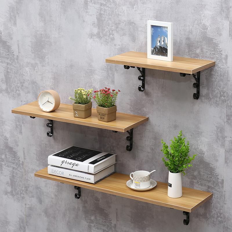墙上一字隔板客厅厨房创意花架