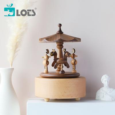 LOTS   Lehmans Carousel Music Box Music Box Hayao Miyazaki Wooden Ornaments Birthday Gift Girls