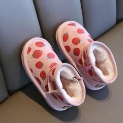 儿童鞋男童雪地靴2020年新款冬季真皮防滑加绒加厚棉靴女童大棉鞋