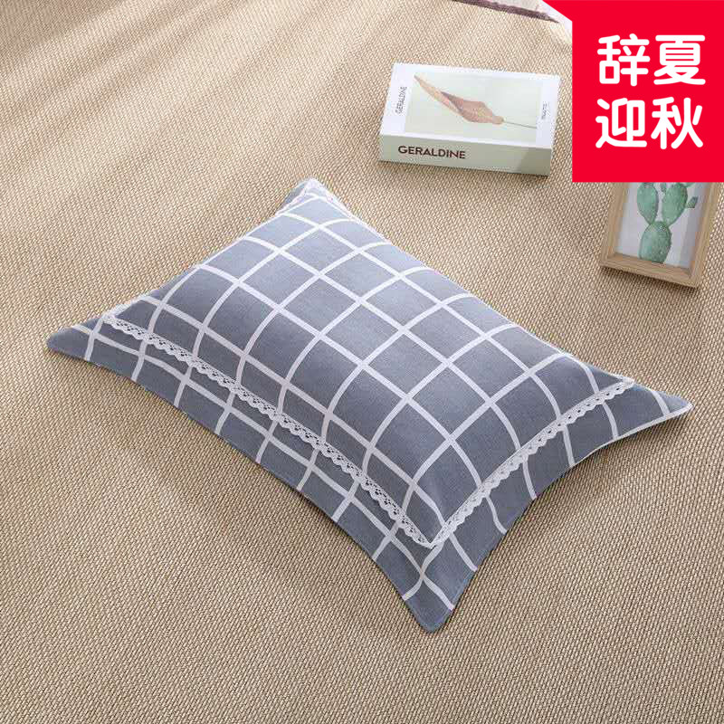 Cotton rice husk health pillow rice shell single dormitory pure cotton coarse cloth pillow core millet shell double layer leak proof