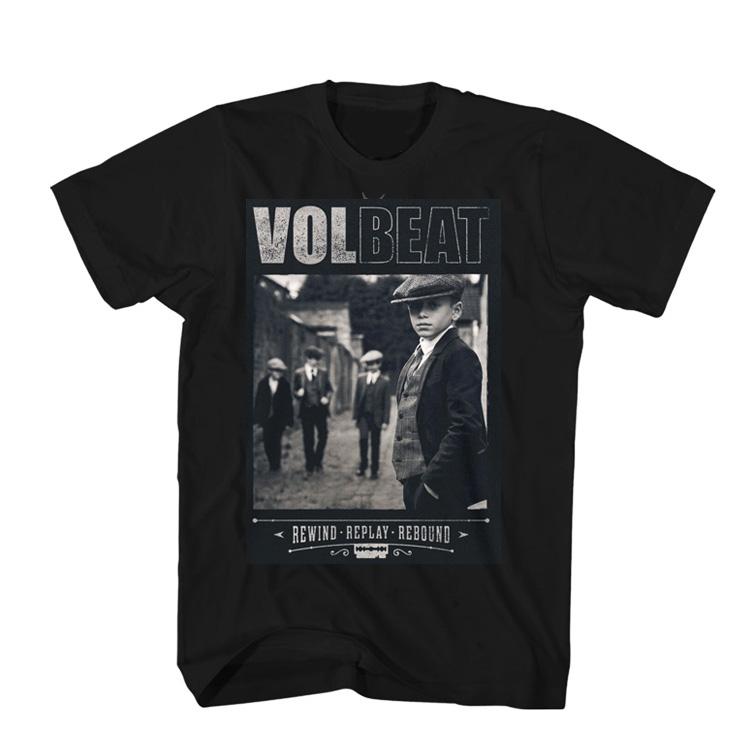 Volbeat电萤虫乐队Bad Boys Rewind, Replay,Rebound复古摇滚T恤