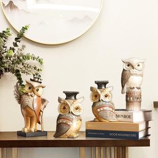美式创意可爱猫头鹰动物摆件儿童房桌面装饰新奇特生日礼物小礼品品牌