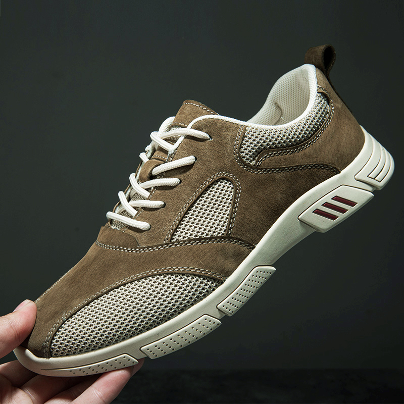 Mens sports casual shoes spring low top lace up mesh face breathable comfortable fashion light board shoes casual shoes fashion