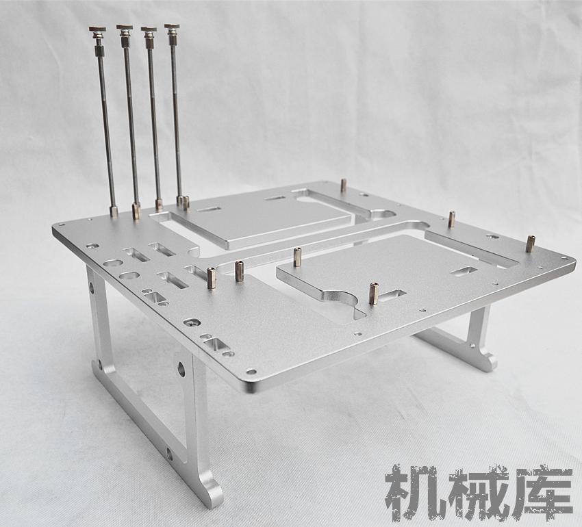 JXK-K2开放式机箱硬件MATX主板244X244测试平台全铝电脑机箱