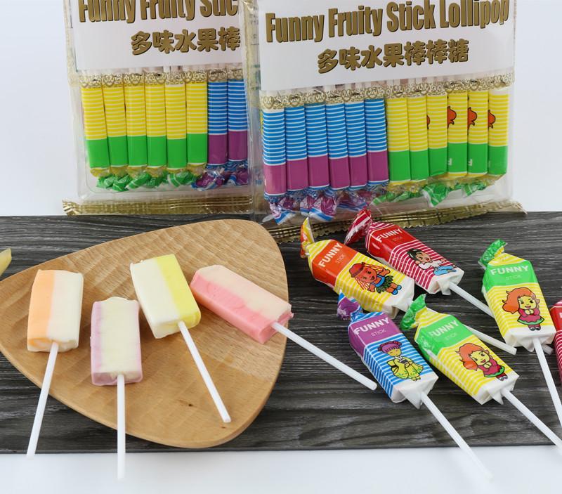 【4袋包邮】马来西亚FUNNY多味水果棒棒糖 24支装儿童棒棒糖240g