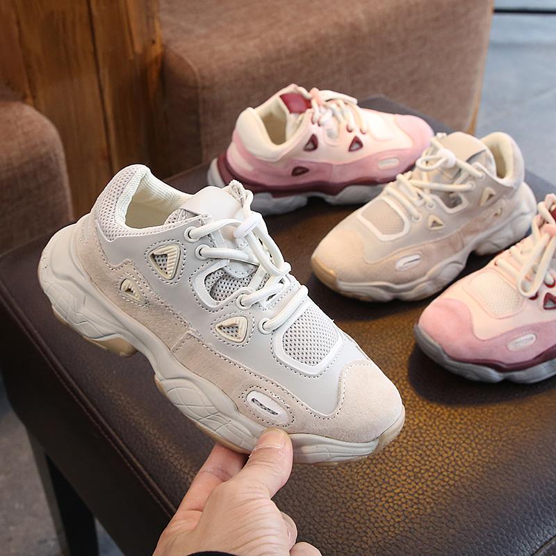 春季新款童鞋男女童真皮运动鞋网布透气休闲鞋韩版26~37码