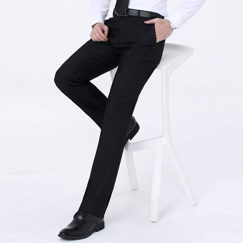 Autumn and winter thick 2020 middle-aged business mens wool west pants straight Pants Large loose mens pants without folding