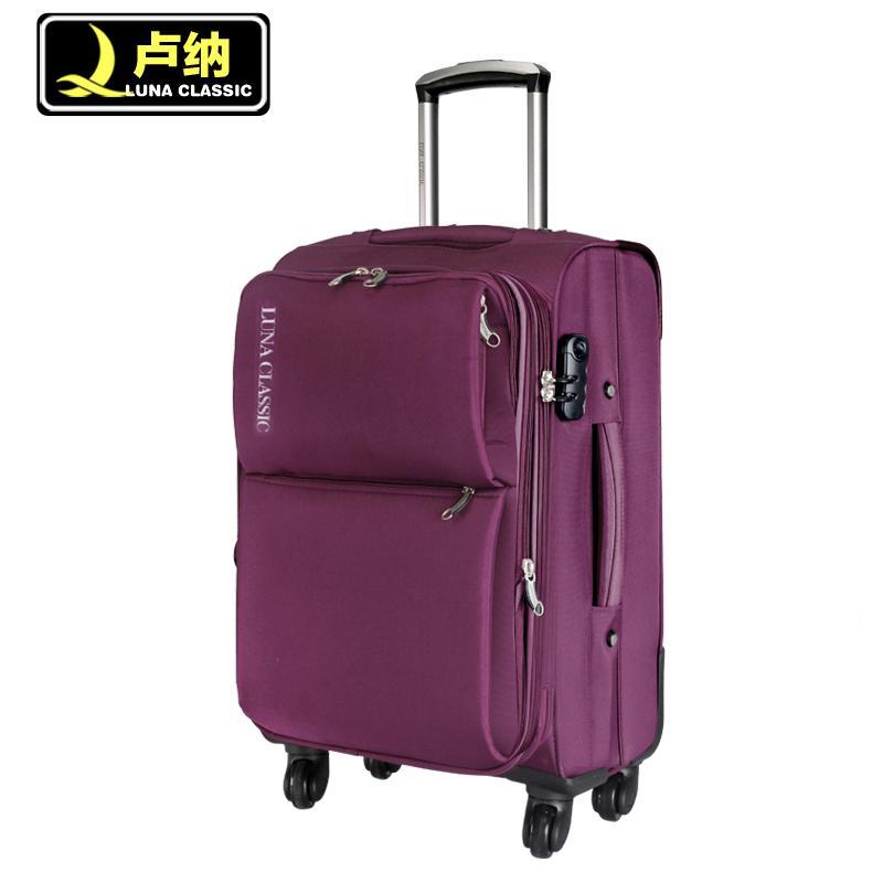 10月11日最新优惠超轻大容量拉杆箱万向轮旅行箱包帆布行李箱子托运软箱20 24 28寸